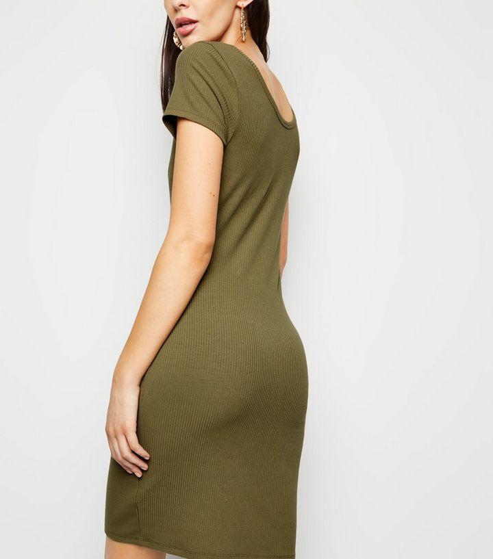 a35641d48a ... Khaki Notch Neck Jersey Mini Dress. ×. ×. ×. Shop the look