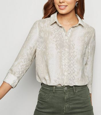 Light Grey Snake Print Shirt
