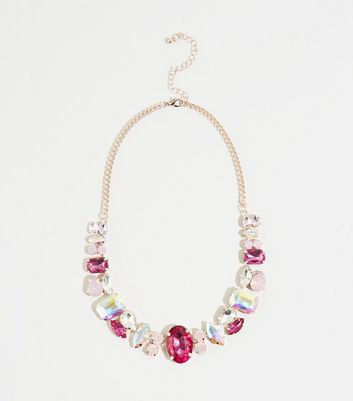 Mid Pink Premium Mixed Gem Necklace