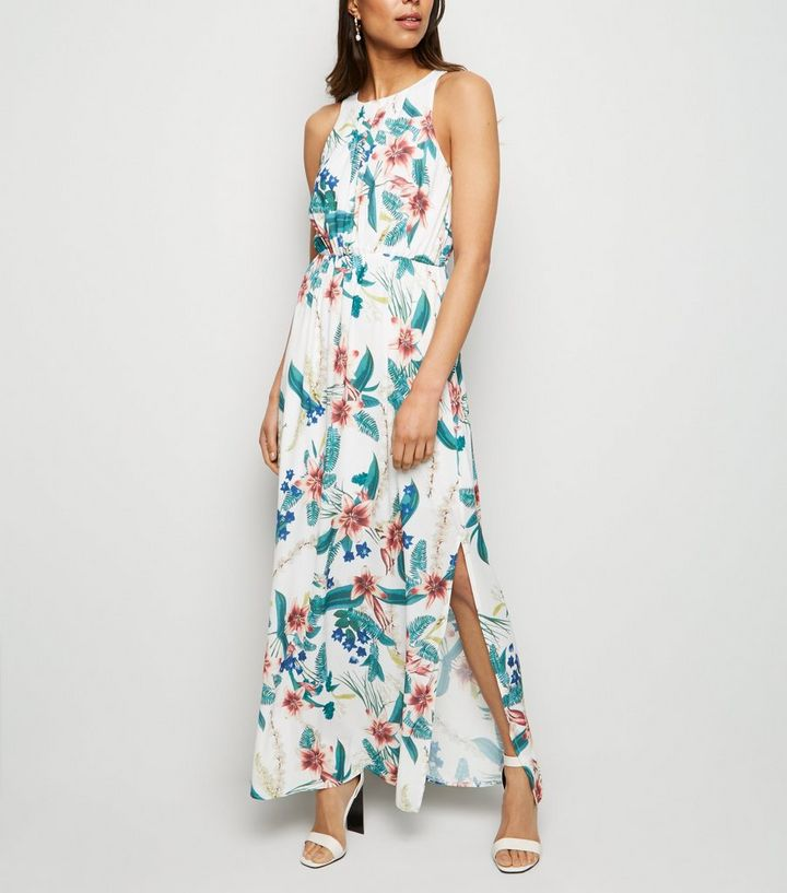 04b08997607 Mela White Tropical Floral Maxi Dress Add to Saved Items Remove from Saved  Items