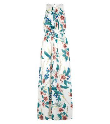shop for Mela White Tropical Floral Maxi Dress New Look at Shopo