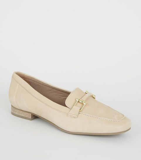 0ff6b26f8974 ... Off White Leather Bar Front Loafers ...