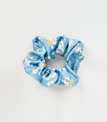 Multicoloured Floral Print Scrunchie