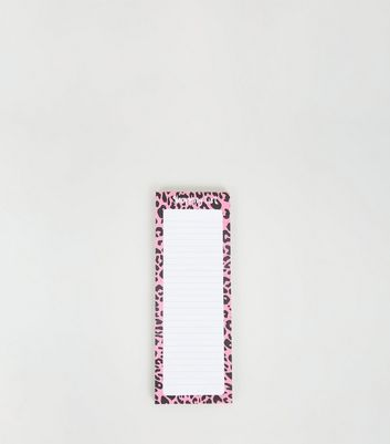 Pink Leopard Print Magnetic Shopping List