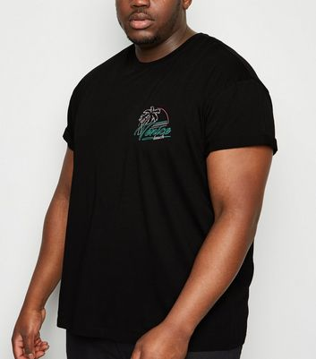 Plus Size Black Venice Beach Logo T-Shirt
