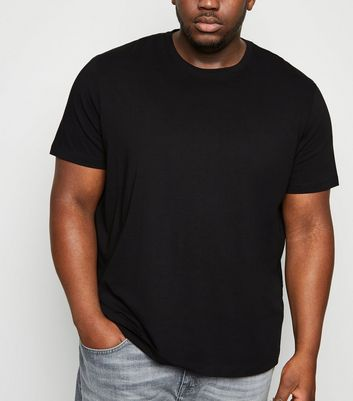 Plus Size Black Crew Neck T-Shirt