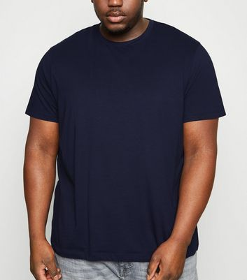 Plus Size Navy Crew Neck T-Shirt