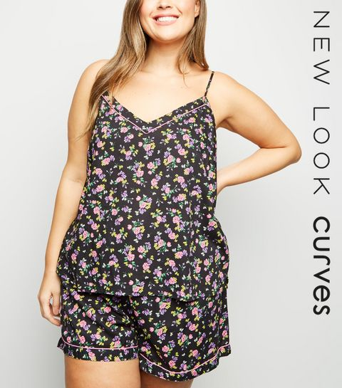 9fa626fcf6db01 ... Curves Black Floral Pyjama Set ...