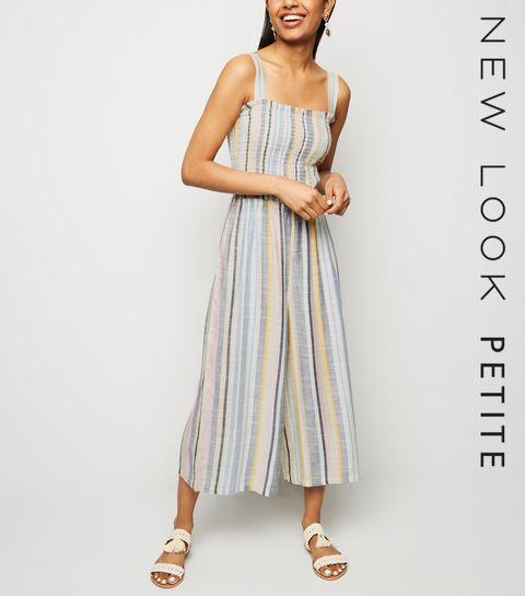 9965d1ac34ce ... Petite Cream Multi Stripe Woven Jumpsuit ...
