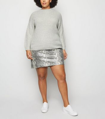 Click to view product details and reviews for Curves Pale Grey Crew Neck Boxy Jumper New Look.