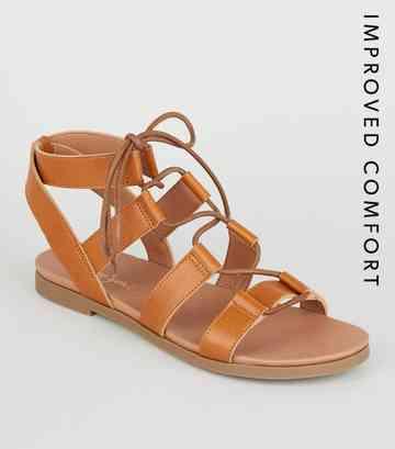 77acbda970282 Flat Sandals | Toe Post & Footbed Sandals | New Look