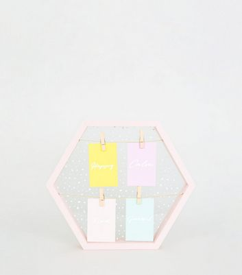Pale Pink Hexagon Glass Peg Board