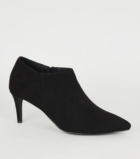 e9acfa70f36d0 ... Black Pointed Stiletto Heel Shoe Boots ...