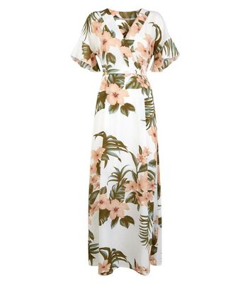 shop for Mela Off White Tropical Floral Maxi Dress New Look at Shopo