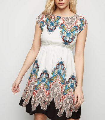 shop for Mela White Aztec Border Print Dress New Look at Shopo