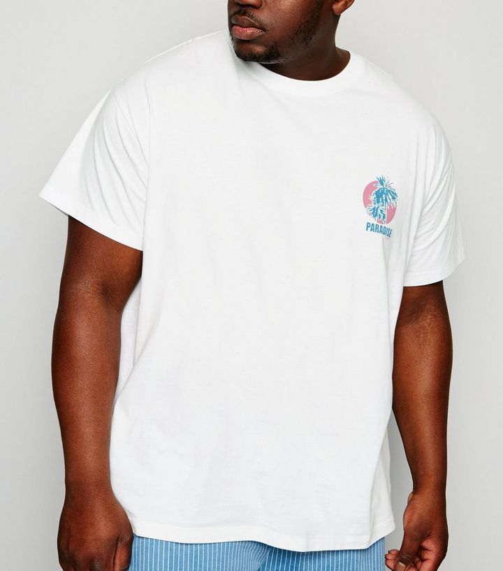 49450efb Plus Size White Paradise Express Slogan T-Shirt Add to Saved Items Remove  from Saved Items
