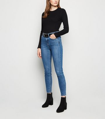 Blue 'Lift & Shape' Skinny Jeans