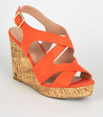 Chaussure Compensée Femme Orange Compensée Chaussure Femme PwuOiXTkZ