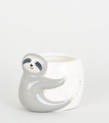 White Speckled Sloth Candle