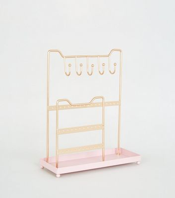 Pale Pink Tiered Jewellery Stand