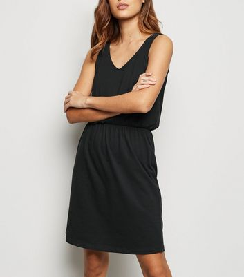 JDY Black Jersey Sleeveless Skater Dress