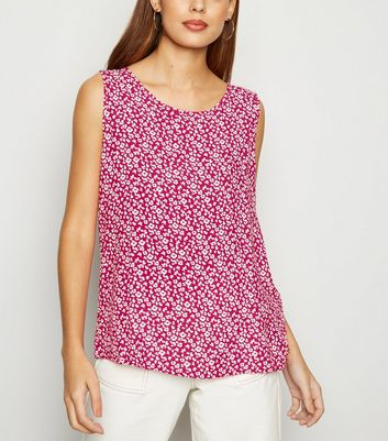 JDY Pink Floral Sleeveless Top