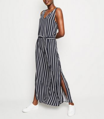 JDY Navy Stripe Sleeveless Maxi Dress