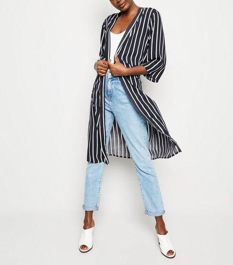 7ba6946034 ... JDY Navy Stripe Longline Kimono ...