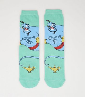 Mint Green Disney Aladdin Genie Socks