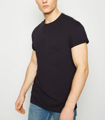 Dark Grey Short Roll Sleeve T-Shirt