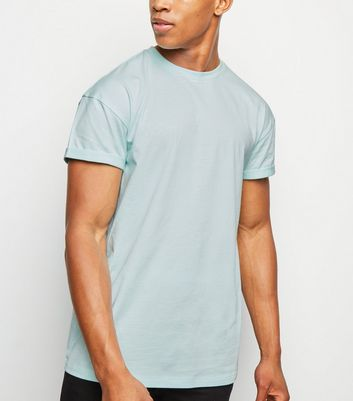 Mint Green Short Roll Sleeve T-Shirt