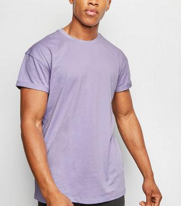 Lilac Short Roll Sleeve T-Shirt