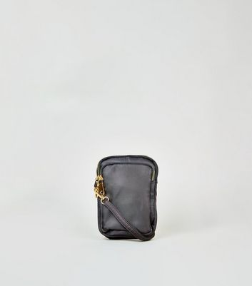 Black Triple Zip Cross Body Utility Bag