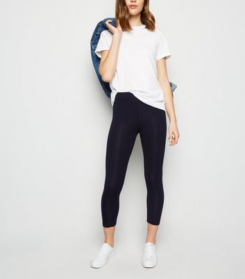 Navy Mid Length Leggings