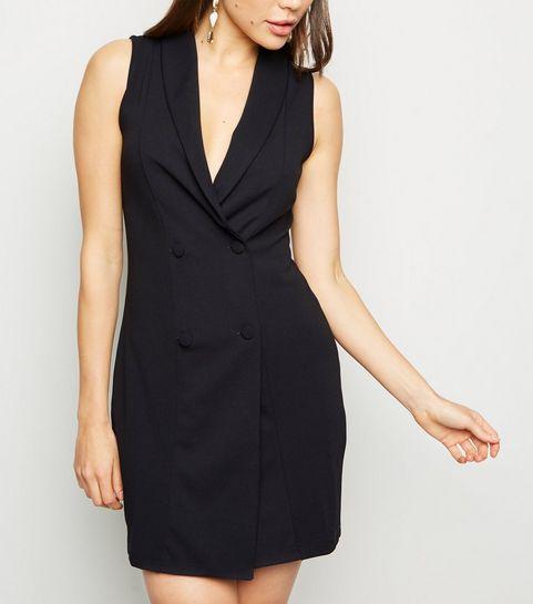 871cdf1048b Black Sleeveless Tuxedo Dress · Black Sleeveless Tuxedo Dress ...