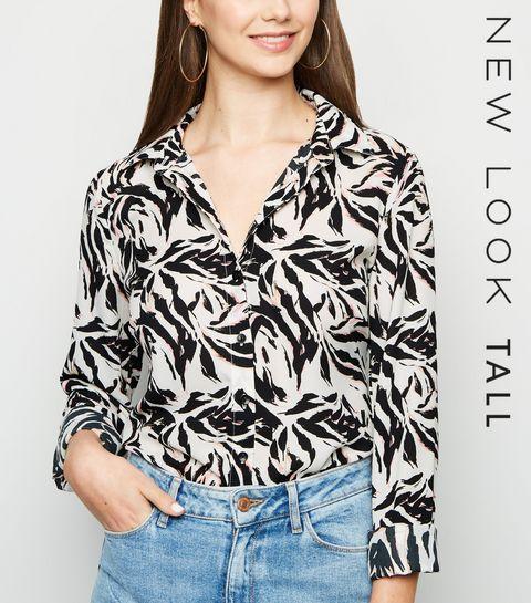 ... Tall White Zebra Print Shirt ... 9ffac934b