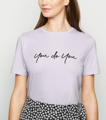 "Tall – Lilafarbenes T-Shirt mit ""You Do You""-Slogan"