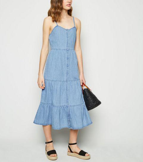 5add8bd521b23 Blue Dresses | Royal Blue & Baby Blue Dresses | New Look