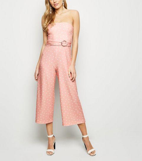 0434a9372f12 Pink Spot Strapless Culotte Jumpsuit · Pink Spot Strapless Culotte Jumpsuit  ...