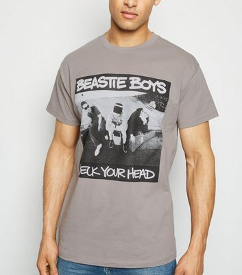 Pale Grey Beastie Boys Print T-Shirt