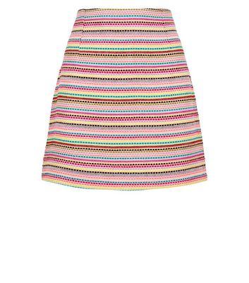 shop for Pink Vanilla Multicoloured Woven Mini Skirt New Look at Shopo