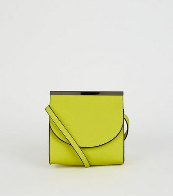 Green Faux Snake Neon Cross Body Bag