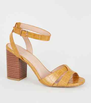 f32535b208 Heeled Sandals | Barely There & Strappy Heeled Sandals | New Look