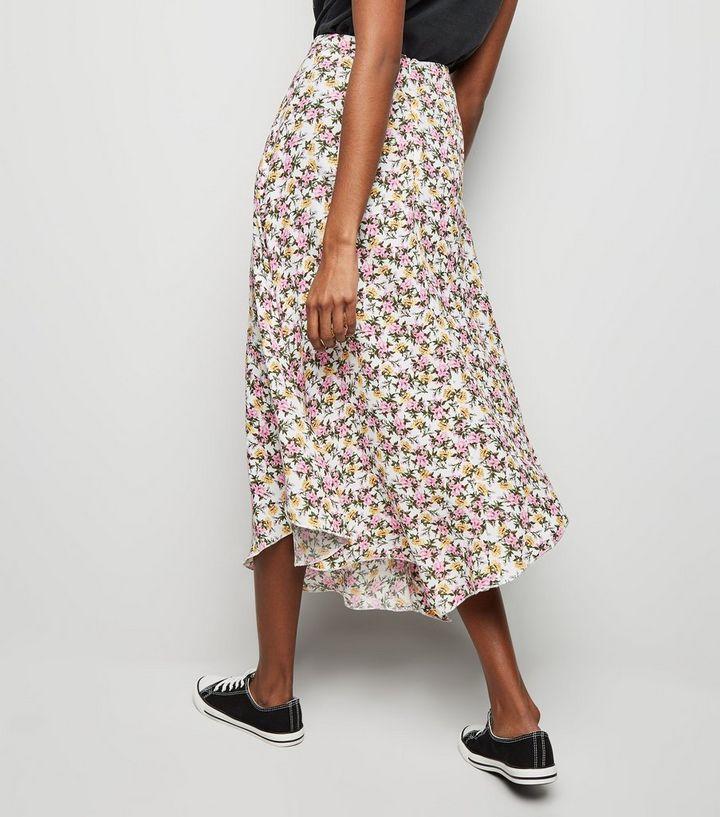 e9f9018ec0 ... White Floral Hanky Hem Midi Skirt. ×. ×. ×. Shop the look