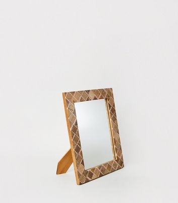 Pink Diamond Wood Frame Mirror