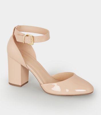 Nude Patent Round Toe Courts