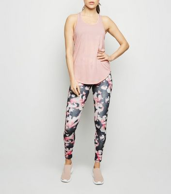 Pink Floral Sports Leggings