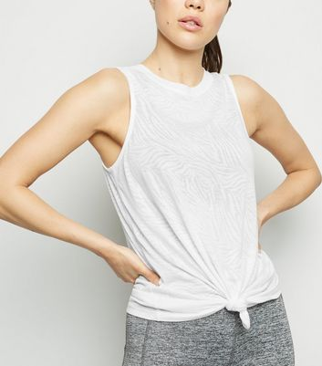 White Zebra Burnout Sports Vest