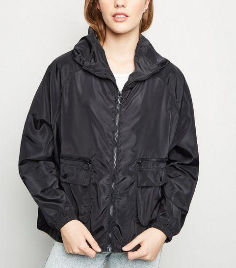 13aa79d1ce7 Black Utility Windbreaker Jacket · Black Utility Windbreaker Jacket ...