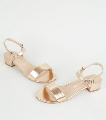 Wide Fit Rose Gold Metallic 2 Part Low